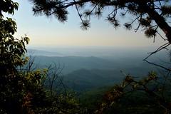 Framed Valley (NC Mountain Man) Tags: trees pine nikon rocks horizon valley d3200 phixe tablerocknc ncmoountainman