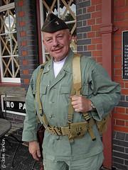 SVR 1940's Weekend (2016) - 02 GI Eddie (Row 17) Tags: uk greatbritain portrait england people man men soldier uniform unitedkingdom britain event gb soldiers uniforms worcestershire reenactment svr severnvalleyrailway kidderminster 940s