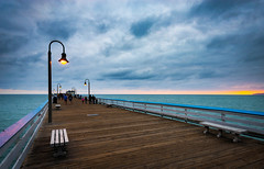 San Clemente Pier (meeyak) Tags: ocean california travel sunset vacation people usa seascape cold nature clouds landscape outdoors spring nikon waves cloudy adventure orangecounty oc sanclemente westcoast d800 onthepier 1635mm sanclementepier meeyak