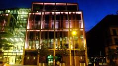 changing colours 02 (byronv2) Tags: dawn night nuit nacht edinburgh edimbourg scotland colour blue edinburghbynight architecture building modernarchitecture contemporaryarchitecture financialdistrict office