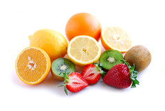 Assorted fruit (cosmosout1) Tags: food orange white color texture fruits fruit lemon healthy strawberry colorful cut many background c strawberries fresh several eat half halves citrus oranges diet kiwi serving isolated assorted vitamins nutrition dieting vitamin