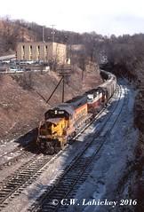 B&O 7619 on 3-3-81 (C.W. Lahickey) Tags: bo greentree emd sd402