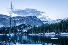 Snowy Mountain Blues (Liz Kaetterhenry) Tags: blue winter mountains green snowy wyoming laramie