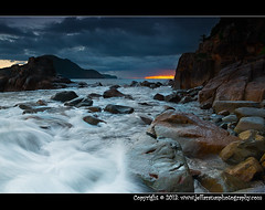 Zenith Sunrise_Hiding (Jeff Aranas Photography) Tags: ocean autumn sea sky holiday seascape beach water weather rock clouds marina sunrise landscape photography coast nikon rocks waves photographer cloudy harbour australia filipino flowing nelsonbay d800 sundancer waterscape waterscapes jeffaranas newcastlemobilephotography jeffaranasphotography