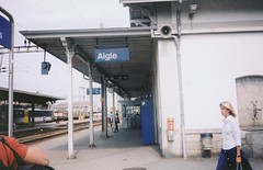 Switzerland - Aigle - Train Station - 2003 (litlesam) Tags: switzerland trainstations aigle switzerland2003
