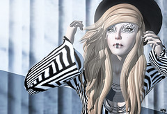 Striped (Wicca Merlin) Tags: new woman news art fashion pose hair blog 3d clothing model truth photographer modeling avatar formal style jewelry blogger sl secondlife gift 80s 70s prize corpus couture modelpose burley hunt formalattire highfashion newrelease alafolie virtualworld redgrave newreleases modelposes dotbe baboom femaleclothing slfashion 3dpeople headturners dollarbie slclothing slstyle modelingpose modelingposes silkenmoon diconayboa fashionposes wiccamerlin femalewear metavirtual fashioninpixels zibska therunwayperfecthunt trph theperfectrunwayhunt baboomcouture boniefacio dotbefashion trph4