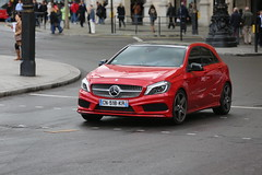 Mercedes-Benz (kenjonbro) Tags: new red london westminster canon french guess trafalgarsquare help mercedesbenz charingcross amg sw1 aclass worldcars kenjonbro canoneos5dmkiii canonef70200mm128l1siiusm cn518kr