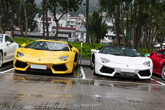 Lamborghini Aventador LP700-4 (- Icy J -) Tags: morning italy white cars car yellow hongkong drive cool md awesome sunday fast hong kong exotic supercar modded smd flagh