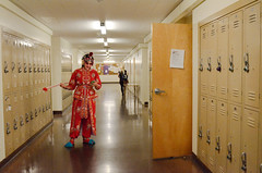 (peng.uin) Tags: sanfrancisco college students lockers costume actors asia university performance culture makeup cellphone hallway backstage sfsu beijingopera sfstate