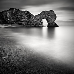 Durdle Door (Rob Cherry Photography) Tags: longexposure sunset seascape monochrome photoshop canon mono coast fineart filter dorset jurassic lulworth durdledoor nd110 robcherry