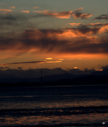 sun set over the forth from bo