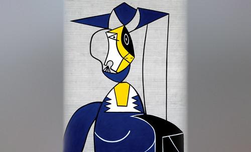 "Mujer en Gris, caracterización de Pablo Picasso (1942), recreación de Roy Lichtenstein (1962). • <a style=""font-size:0.8em;"" href=""http://www.flickr.com/photos/30735181@N00/8815851026/"" target=""_blank"">View on Flickr</a>"