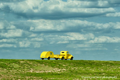 ROAD TRIP (Aspenbreeze) Tags: sky car clouds rural truck texas country vehicle yellowtruck aspenbreeze moonandbackphotography bevzuerlein plainsoftexas