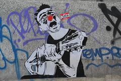 Mimi The Clown (Ausmoz) Tags: street urban streetart paris pasteup art collage wall poster sticker collages clown stickers mimi posters walls rue mur 75018 murs urbain mimitheclown