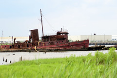 The Boat Graveyard (KatieWhitaker) Tags: nyc red ny newyork water metal yard arthur boat rust kill ship crashed si rusty haunted rusted tugboat statenisland wreck scrap destroyed wreckage greengrass wittemarinescrapyard