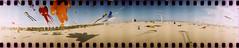 [ ☄ ] ([noone]) Tags: kite valencia 35mm lomo xpro crossprocessed procesocruzado 360 playa spinner cometa aquilone processoinverso