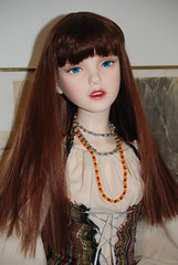 Cassandra - new clothes (Idril-Keeps) Tags: red ball norge doll alicia ooak riding homemade trinity hoo