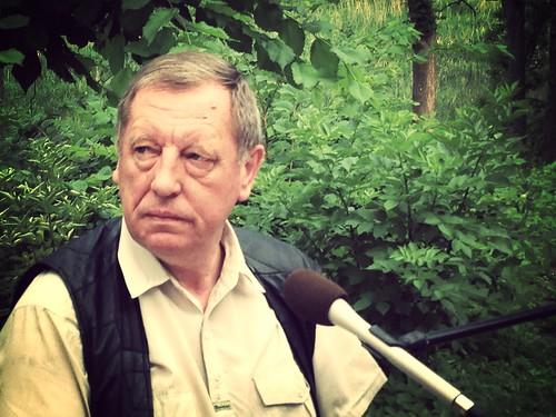 Profesor Jan Szyszko. Poranek Wnet z Tuczna. 5 lipca 2013. W Radio Wnet i na falach Radia Warszawa, Radia Nadzieja i Radia Fiat. Partnerem podróży jest PKO Bank Polski.