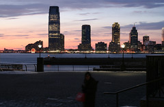Jersey City Skyline at Sunset, NJ (lorislferrari) Tags: sunset skyline newjersey jerseycity 2010