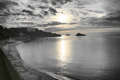 meadfoot beach (paul giles19) Tags: sun black beach water clouds canon reflections paul photography colours stones rise torquay torbay meadfoot 650d