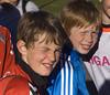 Þemaklúbburinn/Bros (helga 105) Tags: blue red boys smile sunshine iceland bro strákar rautt blátt sólskyn helga105