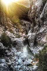 LAST RAYS (Saimir.Kumi) Tags: sun mountain rock river lens afternoon sunday canyon september flare rays albania northeast tirana 2013 hdr3xp canoneosrebelt4i 18135isstm