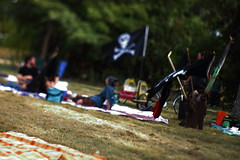 Arrrr....Even Pirates Deserve A Picnic (Dan Constien) Tags: dan wisconsin radio canon rebel community picnic flag free madison pirate t3 wi madtown wort madisonwisconsin freelens freelensing canoneosrebelt3 danconstien boomboxthewasteland