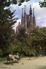 La Sagrada Familia (kikeguas) Tags: barcelona color catalunya sagradafamilia fotografiaurbana