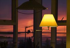 Beint úr sæti mínu. (helga 105) Tags: sunset red out iceland inside rautt út sólarlag inni helga105