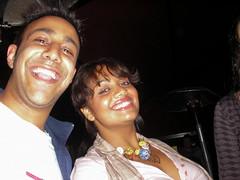 Alf and Sarita (Gary Kinsman) Tags: 2005 friends london smile bar night pose evening flash grin bricklane e1 spitalfields bigchill eastlondon bigchillbar thebigchill