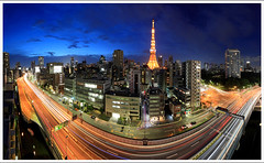Tokyo Ultimate (kbaranowski) Tags: city longexposure bridge urban japan tokyo town highway cityscape nightshot traffic autobahn junction autopista tokyotower nippon intersection lighttrails expressway roppongihills urbanjungle townscape azabujuban nihon afterdark moritower tokio megapolis citynight traffictrails lightstream megacity nightimage urbanasia elevatedexpressway tokyoroppongi innercircularroute canon5dii tokyoazabu expresswayjunction gettyimagesjapan13q4 azabujubanjct krzysztofbaranowski akabenabashi ichinobashijct