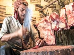 Dinner (Carol Mitchell) Tags: food india work delhi meat butcher nizamuddin nizamudin