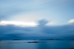 Homborsund lighthouse (masthy) Tags: longexposure blue autumn sea lighthouse seascape cold norway dawn view homborsund grimstad austagder canonef24105mmf4lisusm canoneos6d homborsundfyr kalvehageneset