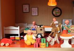 Left corner (*blythe-berlin*) Tags: orange vintage göteborg toys furniture gothenburg 70s möbel byebye spielzeug dollhouse puppenhaus lundby cacodolls biegepuppen doll´shouse 70zigerjahre