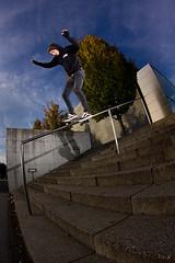 Kenneth Auer - Boardslide (lui summer) Tags: sports sport action skating rail fisheye skate skateboard handrail boardslide kenneth strobe aktion extrem skaten auer fischauge strobist