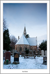 Luss Church in the Snow (flatfoot471) Tags: winter church sunrise landscape scotland lochlomond luss argyllbute