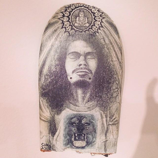 """Re-unión"" de Chris Dyer #art #arte #arteenlima #artinlima #skateboard"