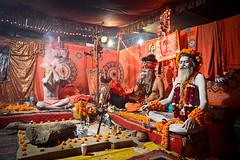 Sadhus (Leonid Plotkin) Tags: india festival religious asia religion celebration ritual hindu hinduism mystic sadhu ascetic holyman allahabad kumbhmela kumbh kumbhamela