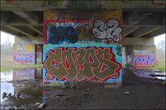 ERKS / T32 / Zerx / Corps / Rookie / Flem / Teko (lewis wilson) Tags: urban london art rock canon graffiti paint urbanart corps damage graff rookie a40 m40 uxbridge opd teko flem erks t32 zerks ukgraff temp32 ldngraffiti