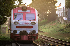Red Train (Nazly) Tags: red train island track railway srilanka colombo slave