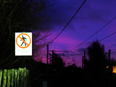 Blurred pre-dawn (tubblesnap) Tags: pink blue light sky sign warning dawn purple low predawn {vision}:{sunset}=0576 {vision}:{sky}=0876 {vision}:{outdoor}=0837 {vision}:{dark}=0699