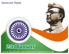 Netaji Subhas Chandra Bose (saraswatidigital) Tags: india photomanipulation photoshop poster graphicdesign politics digitalart card greetings patriot independenceday kolkata coreldraw indianflag ecard greetingscard politicalparty freedomfighter politicalleader 23rdjanuary bengaliculture bengalitradition netajisubhaschandrabose saraswatidigital
