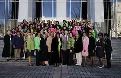 02-27-14 Rep. Barbara Boyd and AKA Group with Governor Bentley