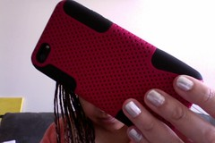 New cover (Damana) Tags: pink black silver dark painting paint photobooth hand phone polish lips nails cover hold rugged iphone