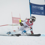 Szonja HOZMANN of Hungary takes 5th Place in the U14 Girls GS Race held on Whistler Mountain on April 5th, 2014. Photo by James Cattanach - coastphoto.com