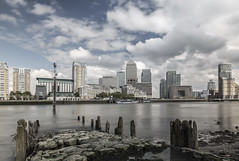 Low tide Canary Wharf 2 (ben veasey) Tags: london skyscrapers canarywharf