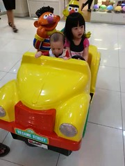 My baby Faith and baby Zac taking a kid ride