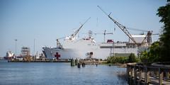 U.S. Naval Hospital Ship Comfort (North Charleston) Tags: vessel shipyard comfort docked naval cooperriver hospitalship deytens
