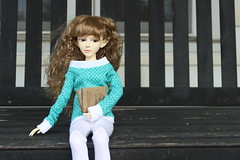 More Book Thoughts (michaltheawesome) Tags: book swing bjd ponder