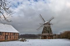 Freilichtmuseum Detmold (Thomas Haeusler) Tags: schnee winter freilichtmuseum detmold windmuehle 2015 lwl kappenwindmuehle